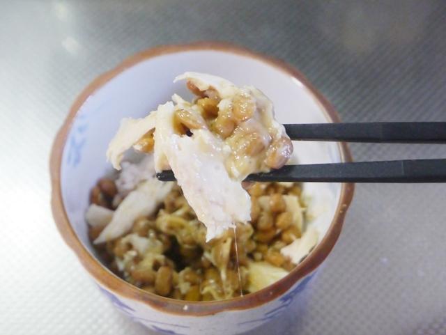 サラダチキンの納豆和え2