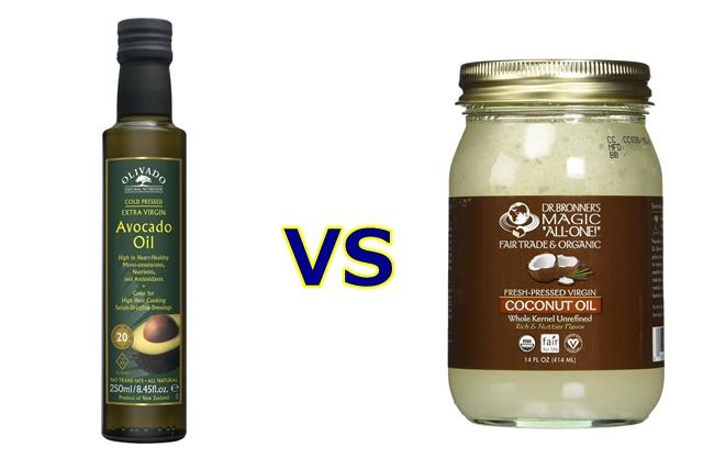 アボカドオイルとココナッツオイル