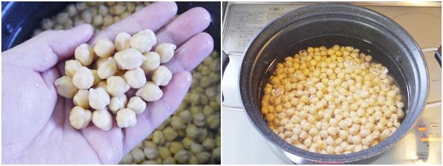 ひよこ豆を茹でる